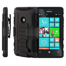 Rugged Armor Hybrid Hard Case Cover Stand Clip Holster For Nokia Lumia 520 525