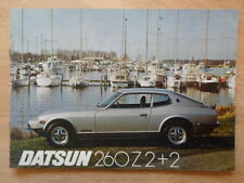 DATSUN 260Z 2+2 orig 1976 UK Mkt sales brochure + Price List