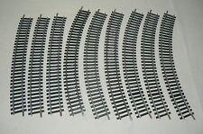 JOUEF lot de 6 rails courbes R=325 mm R=12 3/4° + 3 rails R=445 R= 17 1/2 ° tbé