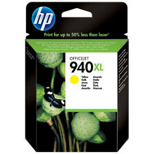 Cartouche d'Encre Originale HP940XL HP 940XL Jaune C4909AE Genuine Ink 03/2017