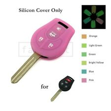 Luminous Glow Silicone Cover fit for NISSAN Remote Key Case 4 BTN 6C Neon 6505PK