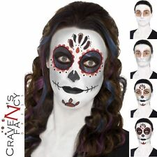 Day of the Dead Make Up Kit Set Halloween Scary Tattoo Sugar Skulls Fancy Dress