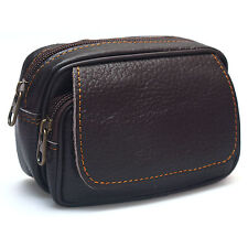 Mens Leather Fanny Pack Bag Travel Purses Waist bag Bum Belt Hip Bag Wallet