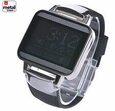 Men's New Techno Pave Sport Digital Touch Screen Rubber Band Watch WR 7693 BK