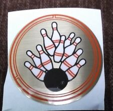 """wholesale lot of trophy parts 177 red black & gold bowling  inserts 2"""" diameter"""