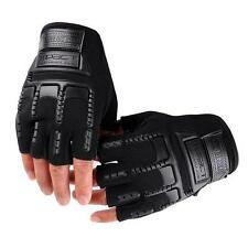Mens Motorcycle Outdoor Sport Cycling Gloves Half Finger Glove Mitten v0