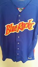 2008 WILMINGTON BLUE ROCKS GAME WORN SUPER HEROE BASEBALL JERSEY ADULT #24 AUTO
