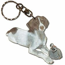 Pointer Wooden Dog Breed Keychain Key Ring