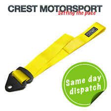 TRS Adjustable Tow Eye Strap/Loop YELLOW (MSA Compliant) Race/Rally/Competition