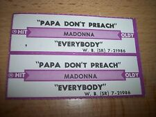 """2 Madonna Papa Don't Preach / Everybody Jukebox Title Strips CD 7"""" 45RPM Records"""