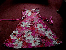 Ladies New with tag KIT fab white & pink dress size 12