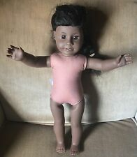 """American Girl Doll 18"""" Historical Addy Walker Nude Retired With Earrings"""