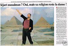 Coupure de presse Clipping 1990 (2 pages) Maurice Béjart Musulman?