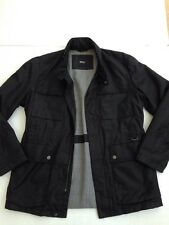 *HUGO BOSS* Mens Coat Jacket  Black Label (UK 48) Smart Zip Lined Designer a292