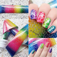 Nail Art Transfer Foils Starry Sticker Decal Gradient Holographic Decoration