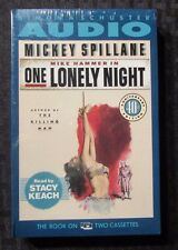 1991 ONE LONELY NIGHT Mickey Spillane 2x Audio Cassette SEALED Stacey Keach