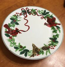 5 NEW Royal Norfolk Bird Cardinal Dinner Plates Decorative Vintage Christmas