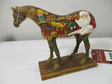 Trail of Painted Ponies 2008 Christmas Santa's Wooden Toy Horse #12288