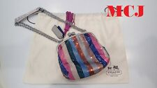 'New' Authentic Coach Poppy Sequin Frame Chain Shoulder Bag 21216 Multicolor