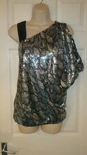 Gorgeous sequined one strap top size 12 by river island