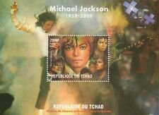 MICHAEL JACKSON HISTORY OF CINEMA AND MUSIC TCHAD 2009 MNH STAMP SHEETLET