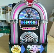 Musical & Illuminated radio jukebox centerpiece 1970's music