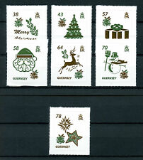 Guernsey 2016 MNH Christmas 7v S/A Set Father Christmas Trees Snowman Stamps