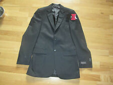 m&s mens black faint pinstripe jacket size 34 long brand new with tags