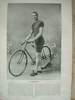 THE SPORTFOLIO PORTRAITS 1896 VINTAGE CYCLING PHOTOGRAPH PRINT R. PALMER