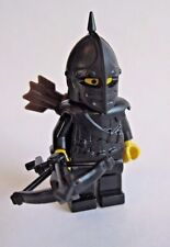 Lego Custom CROSSBOWMAN Minifigure W/ Black Weapons and Armor -Castle LOTR