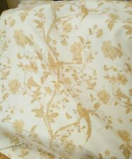 Laura Ashley Fabric Remnant NEW End of Roll Summer palace Gold W146xL199 cms