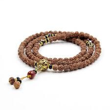 Rudraksha Bodhi Seed Tibet Buddhist 108 Prayer Beads Mala Necklace