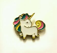 Mini pastel and gold unicorn kawaii enamel pin badge 20mm