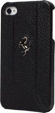 Ferrari iPhone 5 / 5S BLACK Leather & Stitching Case CG Mobile New FEFFHCP5BL