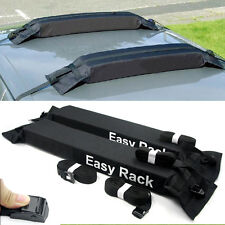 Universal Auto Soft Car Van Roof Top Rack Carrier Luggage Easy Rack Black 2 Pcs