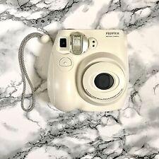 White FujiFilm Instax Mini 7S Instant Photos Films Polaroid Camera