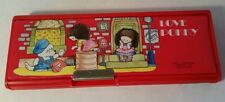 Vintage Love Pokky Red Double Sided Pencil Pen Case Stationary School Box Japan