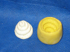 Ice Cream Swirl only Silicone Push Mold Resin Clay Candy #8 Chocolate Gumpaste