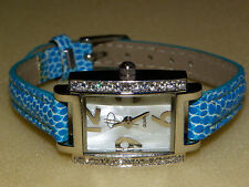 e Tim London Ladies Smart Casual Quartz Watch GWO New Battery Fitted Blue Strap