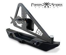 Poison Spyder RockBrawler II Rear Bumper w/ Tire Carrier Black PC 07-16 Jeep JK