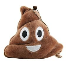 "USA SELLER Emoji Coin Purse Wallet Poop Key chain Plush Brown 4"" inch Poo Yellow"