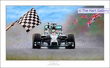 Formula One 1 Lewis Hamilton de ganar el Gran Premio británico Imagen de Impresión