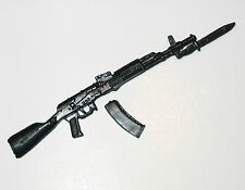 "AK-47 / 74 Assault Rifle w/ BAYONET-1:18 Scale Weapon for 3-3/4"" Action Figures"