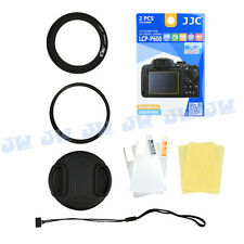UV Filter+ Adapter Ring+ Screen Protector Film For Nikon Coolpix P600 P610 P610S