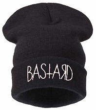 Winter Knitted BASTARD BEANIE HAT CAP FASHION HATS WOOLY SNAP BACK 1994 NY CAP
