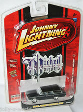 Wicked Wagons - 1960 FORD STATION WAGON - flat black - 1:64 Johnny Lightning