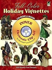 Full-Color Holiday Vignettes CD-ROM and Book (Dover Electronic Clip Art)