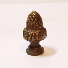 Vtg Brass Acorn Nut Lamp Light Shade Finial Topper Top Hollywood Regency Metal