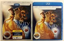 DISNEY BEAUTY AND THE BEAST BLU RAY DVD 2 DISC SET + SLIPCOVER SLEEVE 25TH ANNI