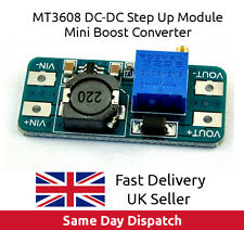 MT3608 DC-DC Voltage Step Up Adjustable Boost Power Module 2A, UK Seller, FAST.